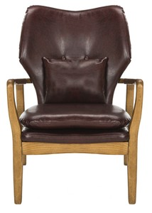 TARLY ACCENT CHAIR Item: ACH9500A Color: BURGUNDY / NATURAL