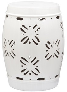 SAKURA GARDEN STOOL Item ACS4543A Color WHITE  sc 1 st  Safavieh.com & Garden Stool | Indoor-Outdoor Furniture - Safavieh.com islam-shia.org