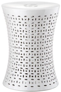 CAMILLA GARDEN STOOL Item: ACS4550A Color: WHITE