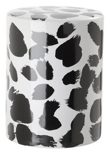 TILDA SPOTTED GARDEN STOOL Item: ACS4561B Color: BLACK