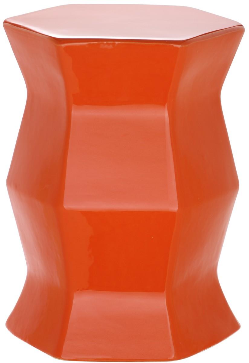 Merveilleux MODERN HEXAGON GARDEN STOOL ACS4542D GARDEN STOOLS. Color: Orange