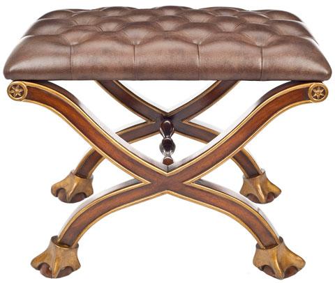 Prime Leather And Gold Ermin Club Ottoman Safavieh Couture Uwap Interior Chair Design Uwaporg