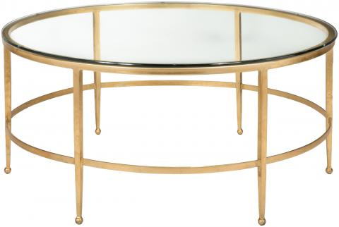 Safavieh Couture Glass Top Round Coffee Table Safavieh