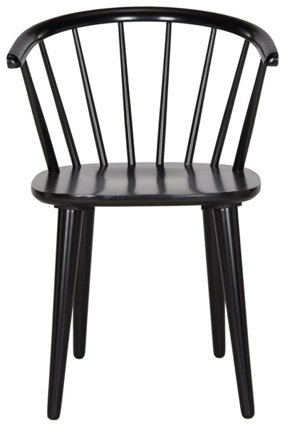 Blanchard 18 H Curved Spindle Side Chair Amh8512a Set2 Dining Chairs Color Black