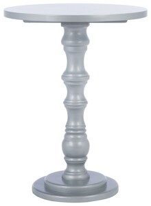 GRETA ROUND TOP ACCENT TABLE Item: AMH6603E Color: Silver