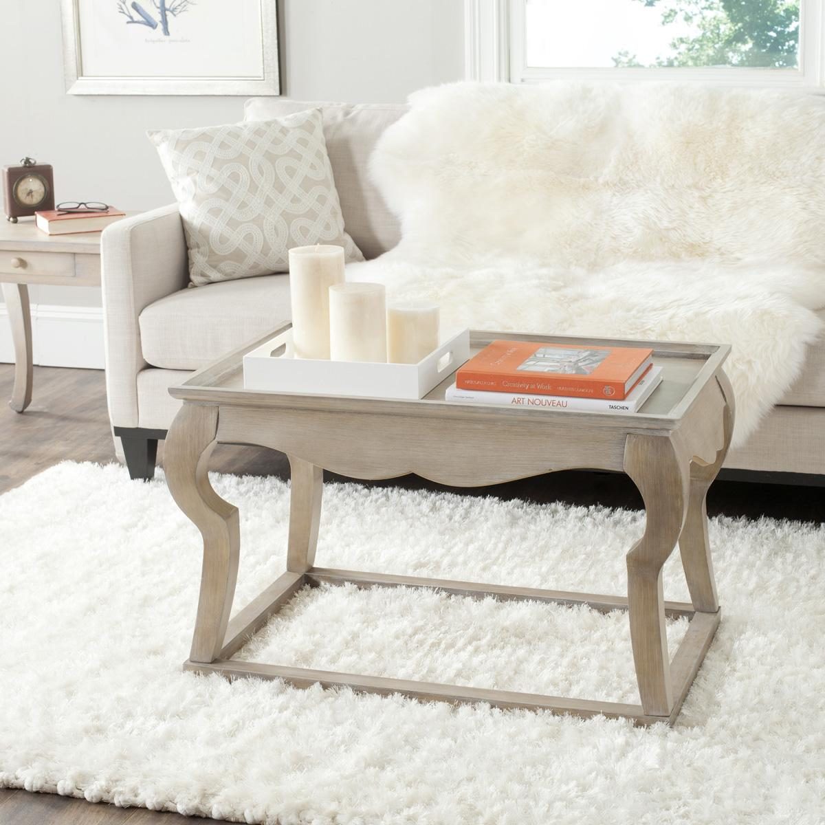 Amh1511b coffee tables furniture by safavieh inspired by vintage country swedish designs harking back to the gustavian period the eclectic preston coffee table in grey finished fir wood is a geotapseo Gallery