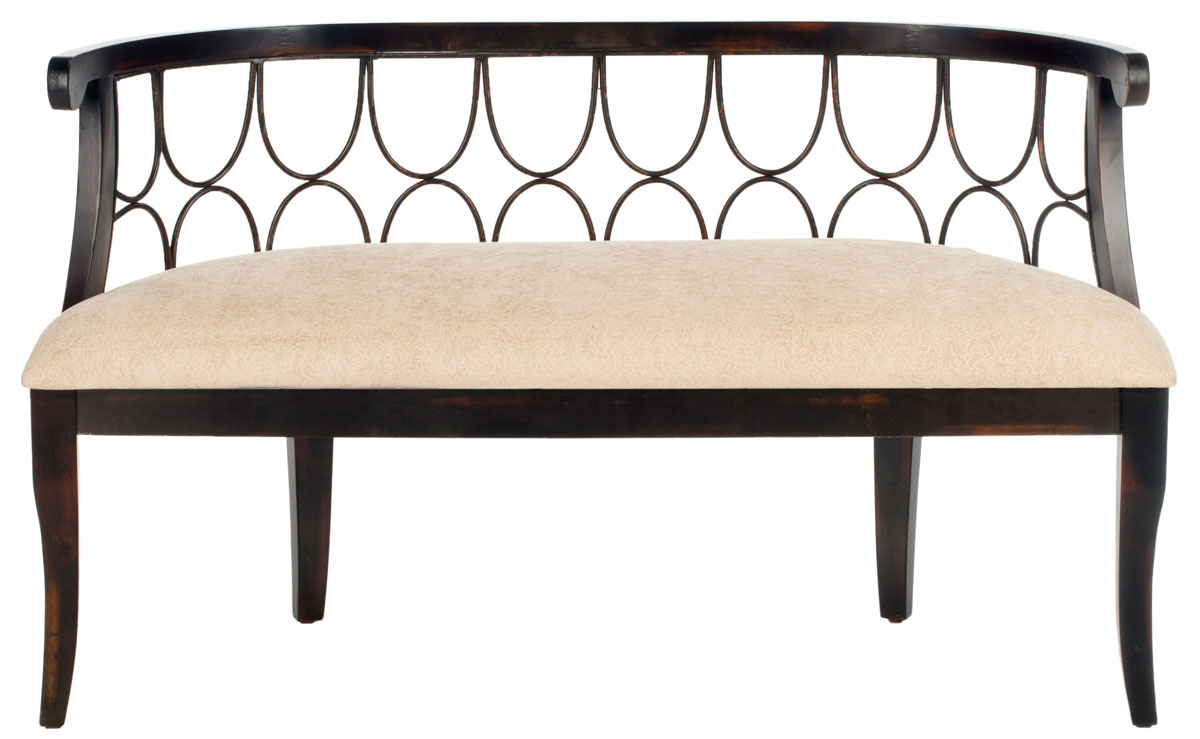 accent safavieh bench collection benches couture nalah home beige velvet line decor high sofa