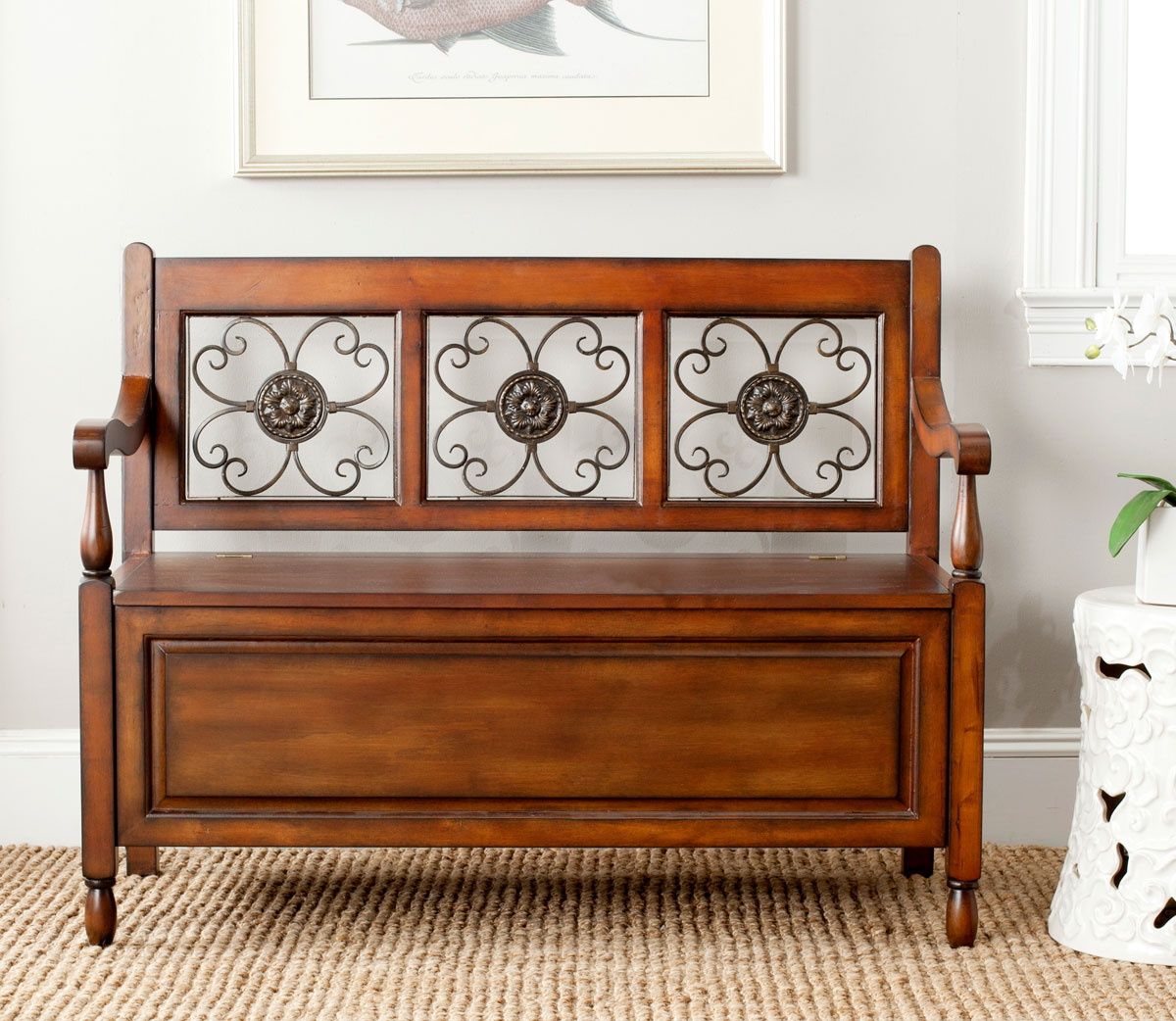 ERICA STORAGE BENCH AMH4120A BENCHES & AMH4120A Benches - Furniture by Safavieh