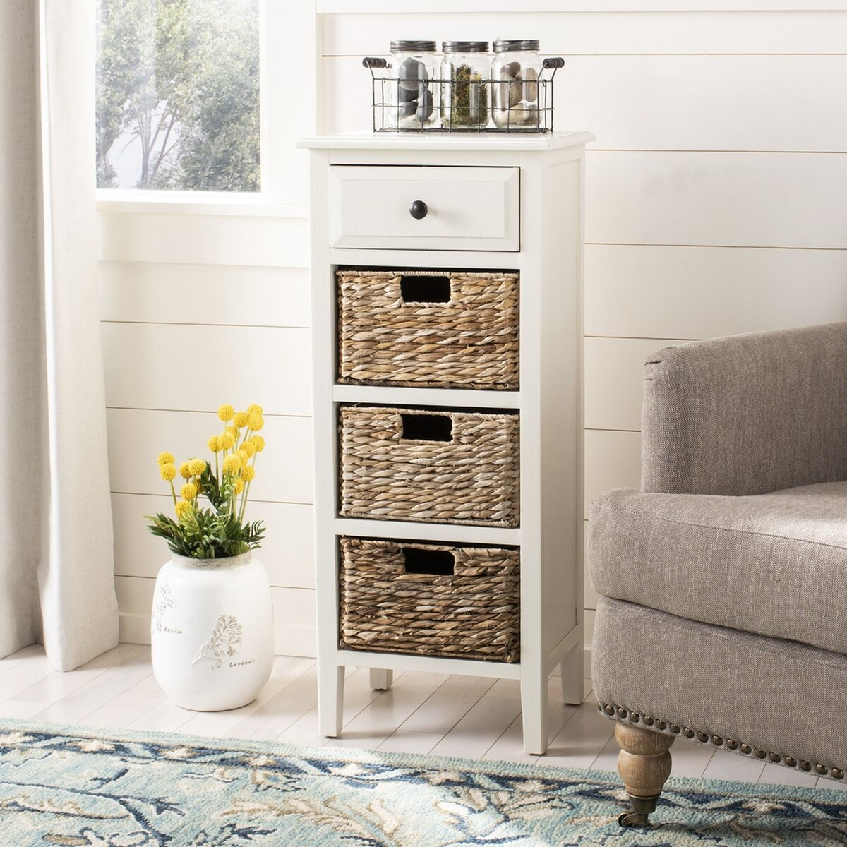 Michaela Drawer Side Table Amh5744b Accent Tables