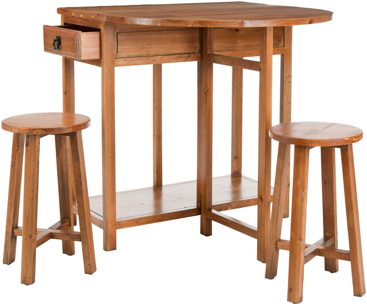 Beau MILES PORTABLE BAR WITH TWO STOOLS AMH6505A DINING TABLES