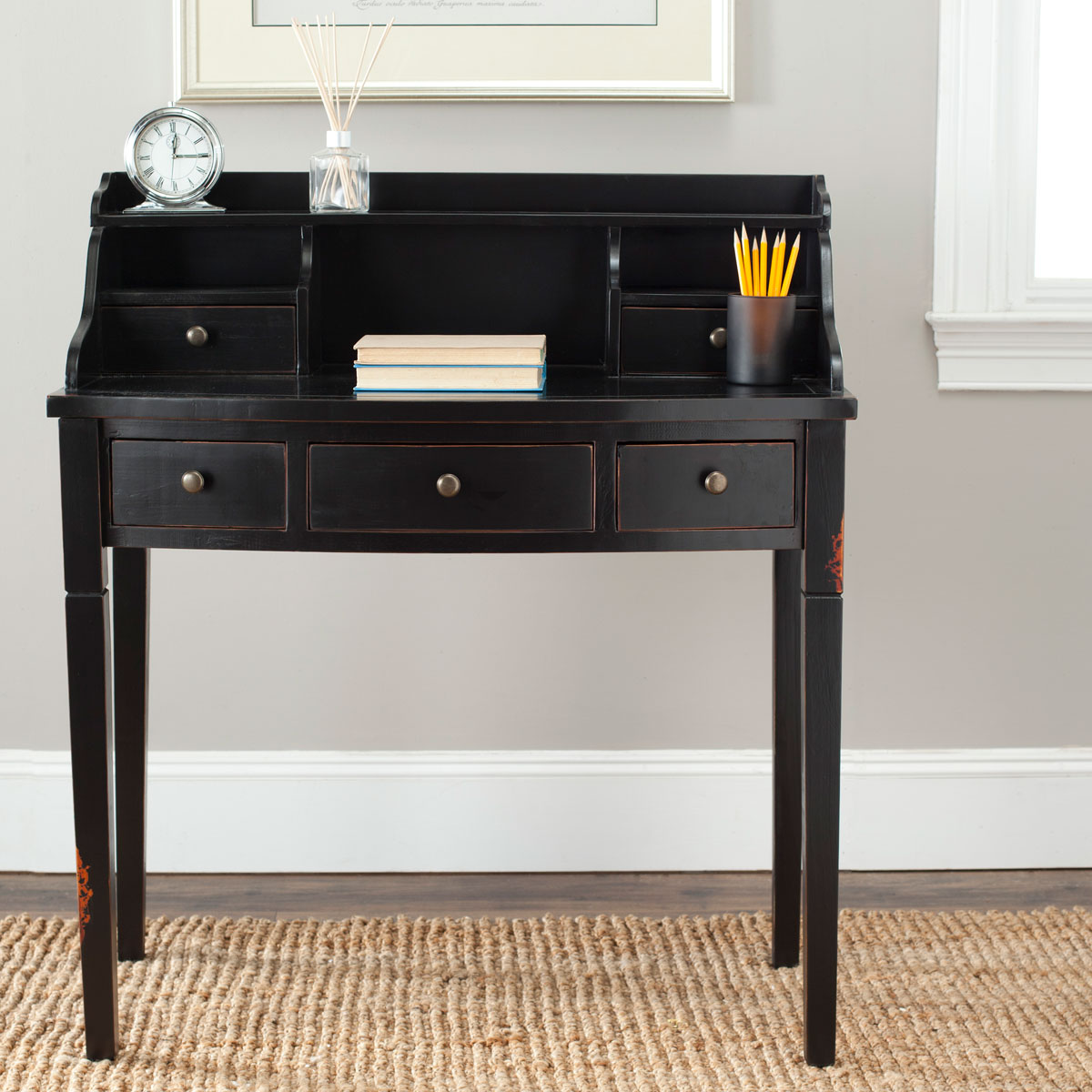Desks Color Distressed Black