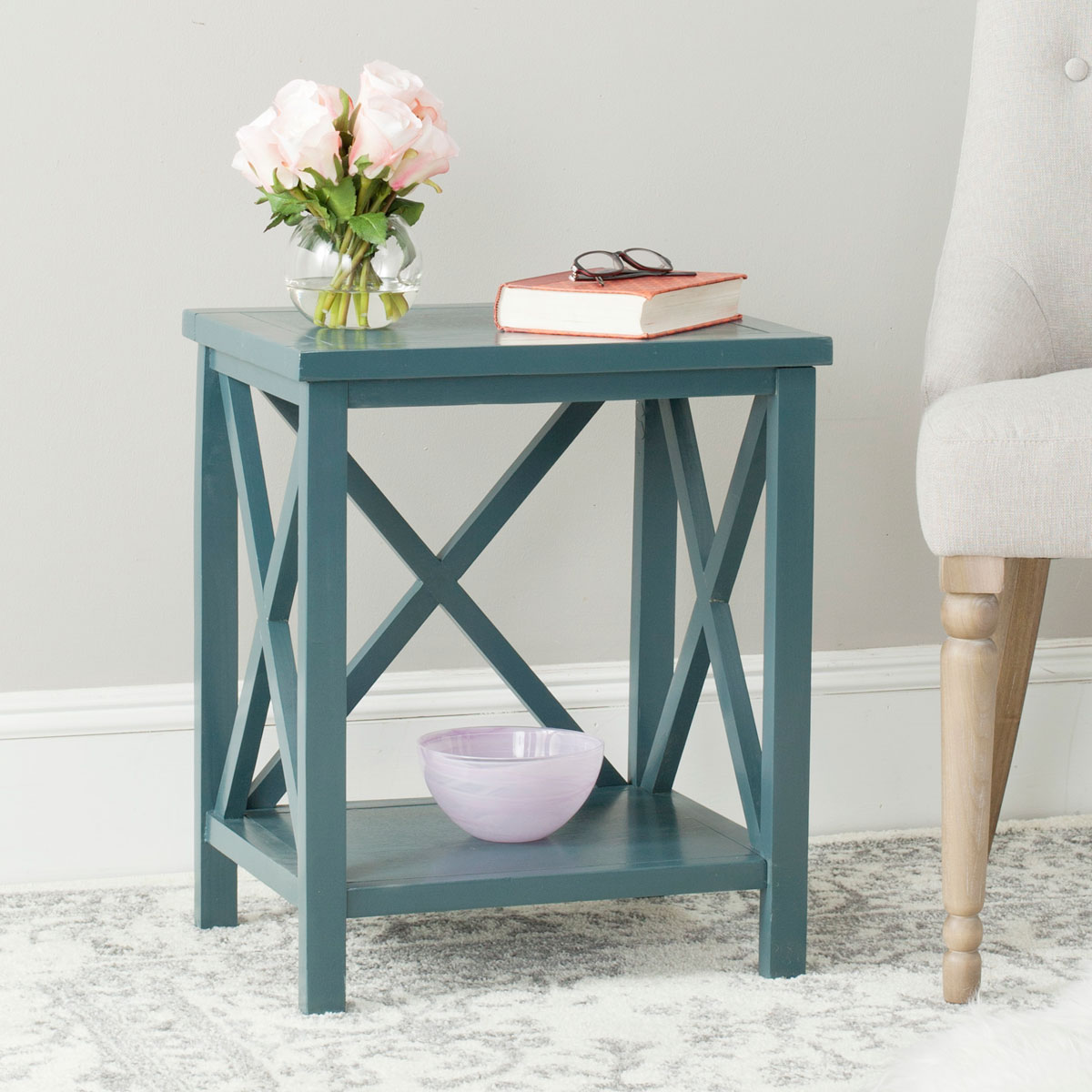 Popular AMH6523F Accent Tables, Storage Furniture - Furniture by Safavieh ZW56