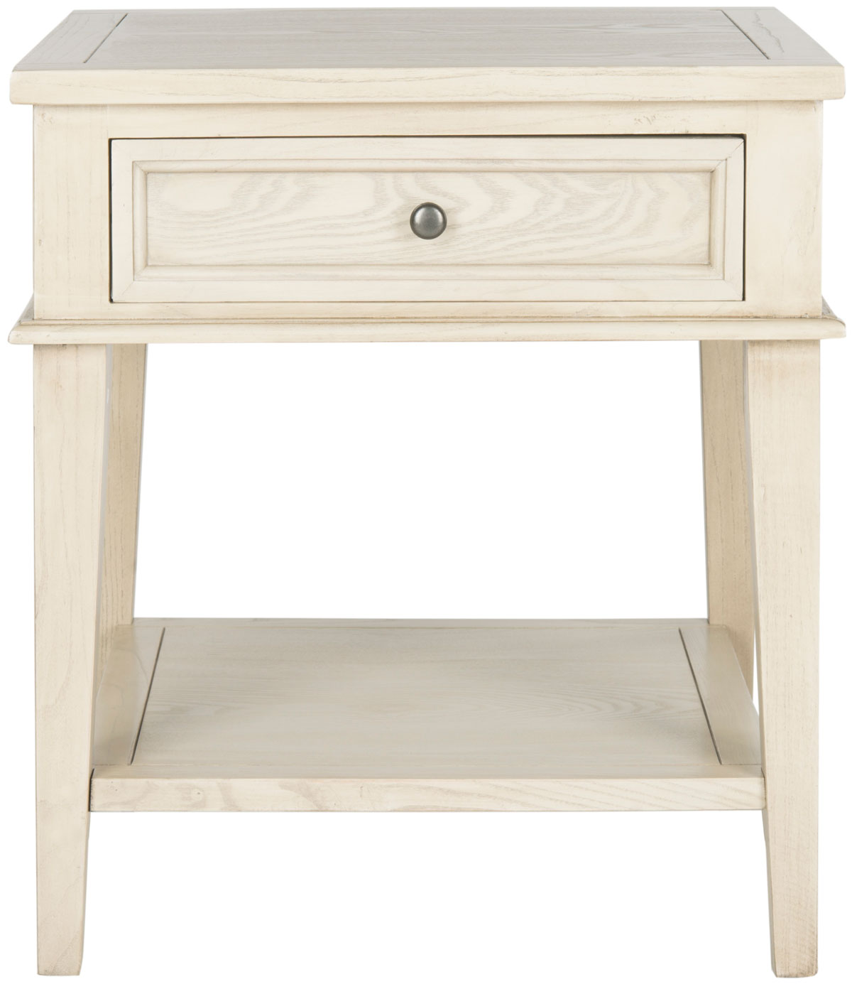 Manelin One Drawer Wood End Table Amh6640b Accent Tables Color White Wash