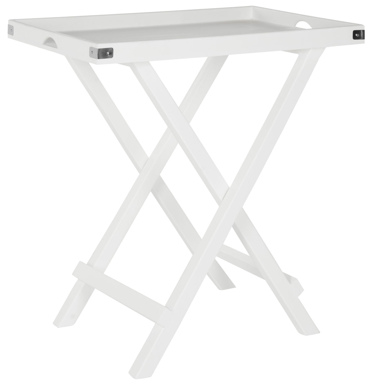 Belvedere Tray Table Amh8202a Tables Color White