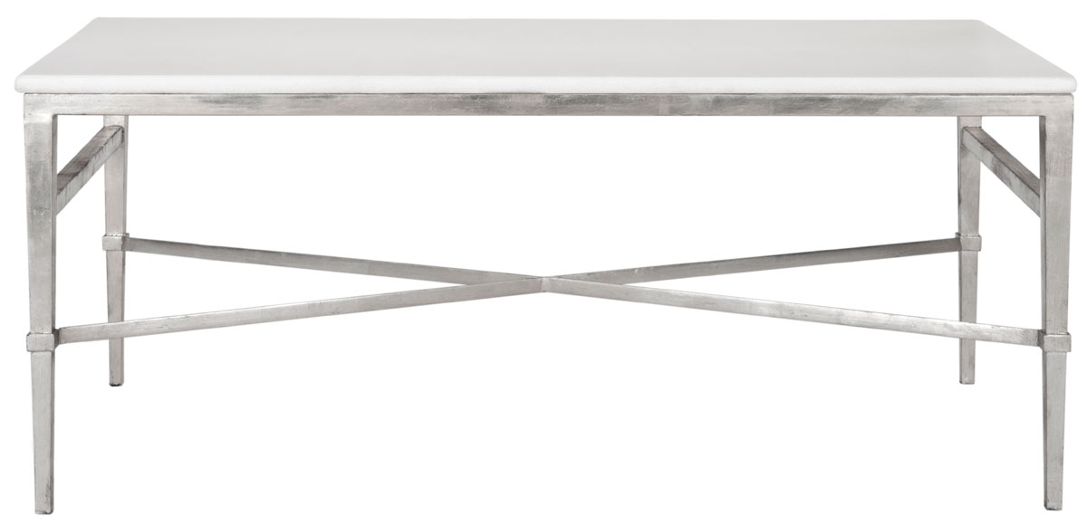 Acker White Marble Tail Table Amh8302a Coffee Tables