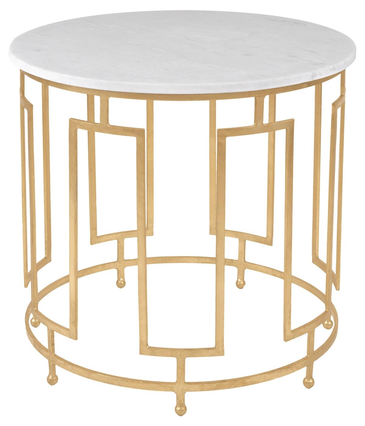 CALDWELL WHITE MARBLE ACCENT TABLE AMH8311A