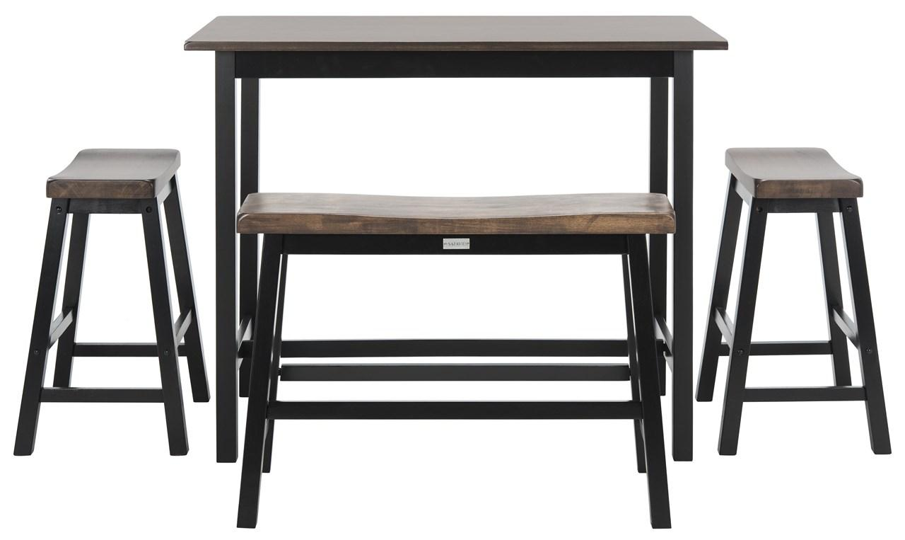 the ronin 4piece pub table set is the ideal addition to kitchen studio apartment family room or room