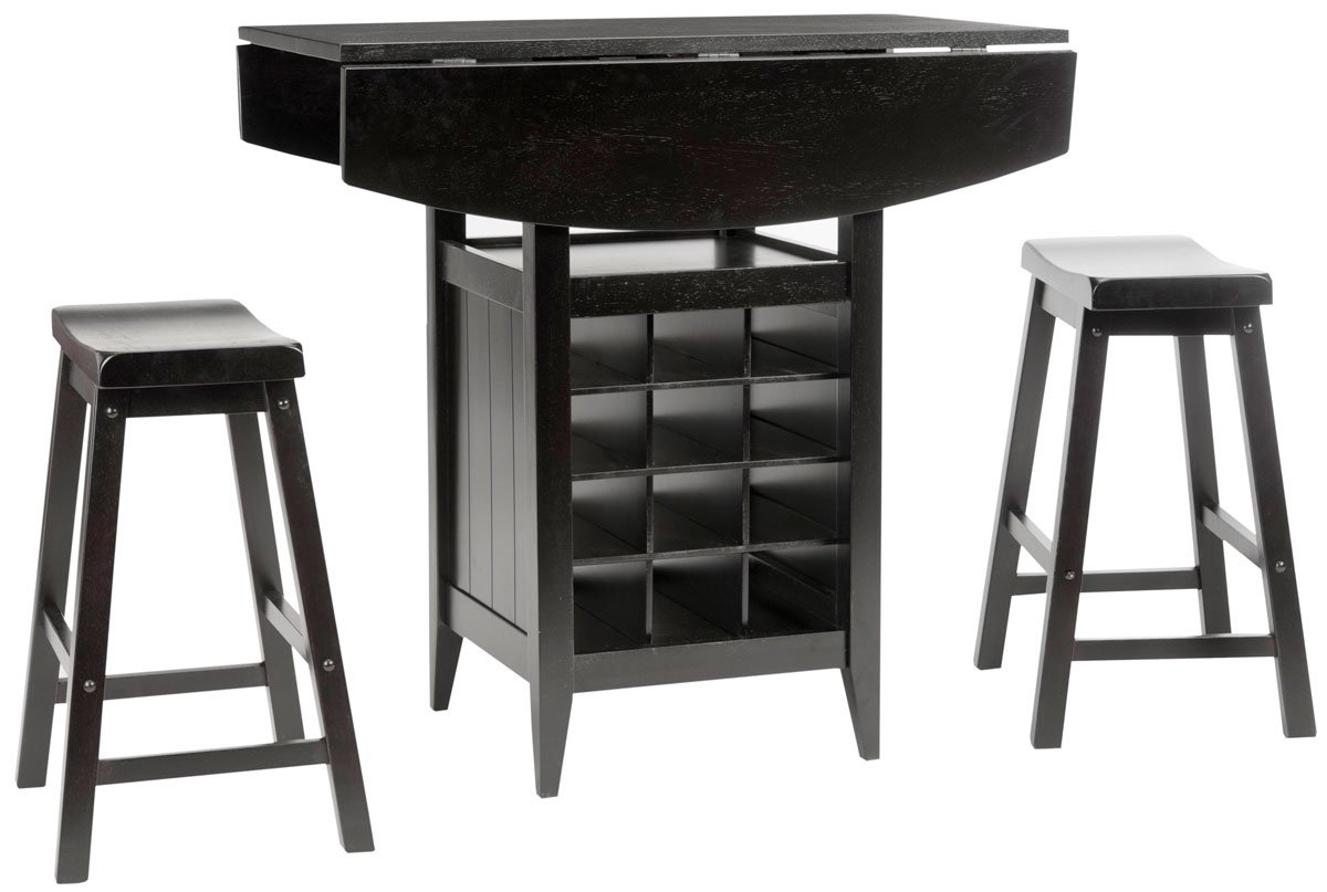 Emeric 3 Pc Set Drop Leaf Pub Table AMH8504A Dining Tables