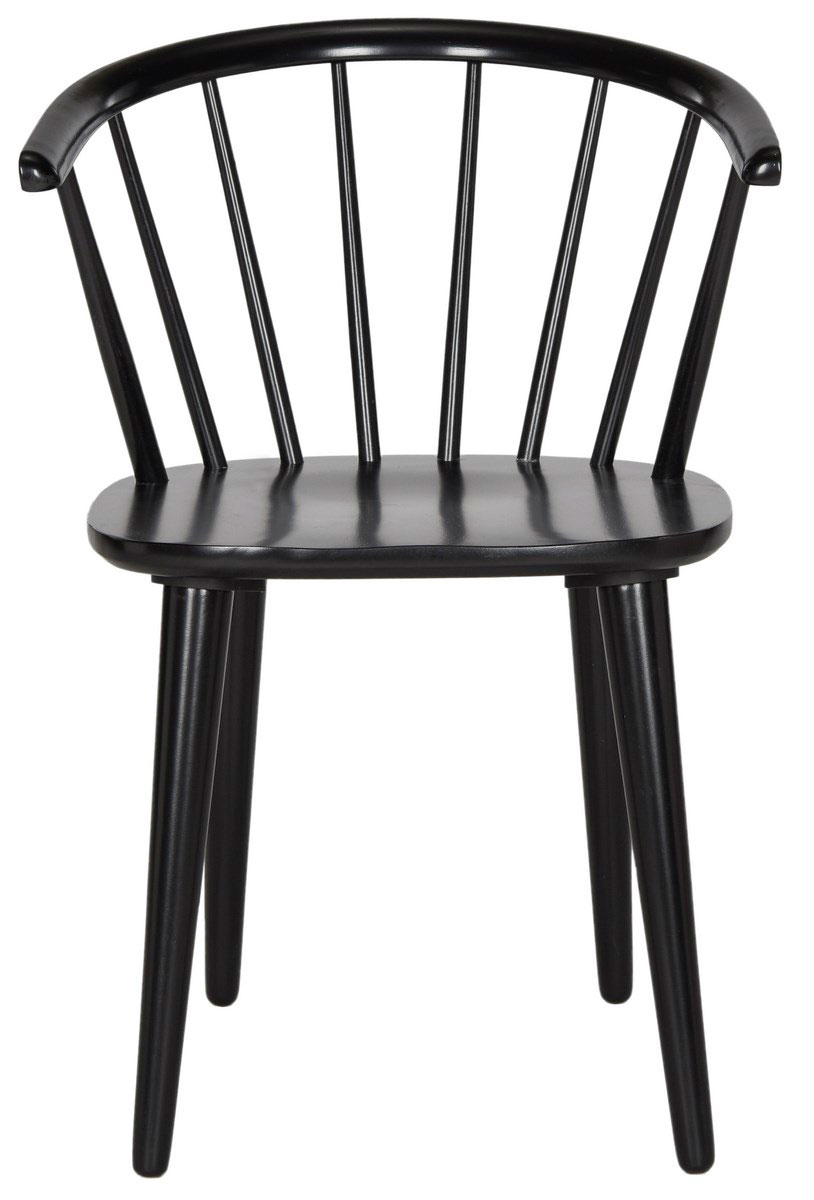 Ordinaire BLANCHARD 18u0027u0027H CURVED SPINDLE SIDE CHAIR AMH8512A SET2 DINING CHAIRS.  Color: Black