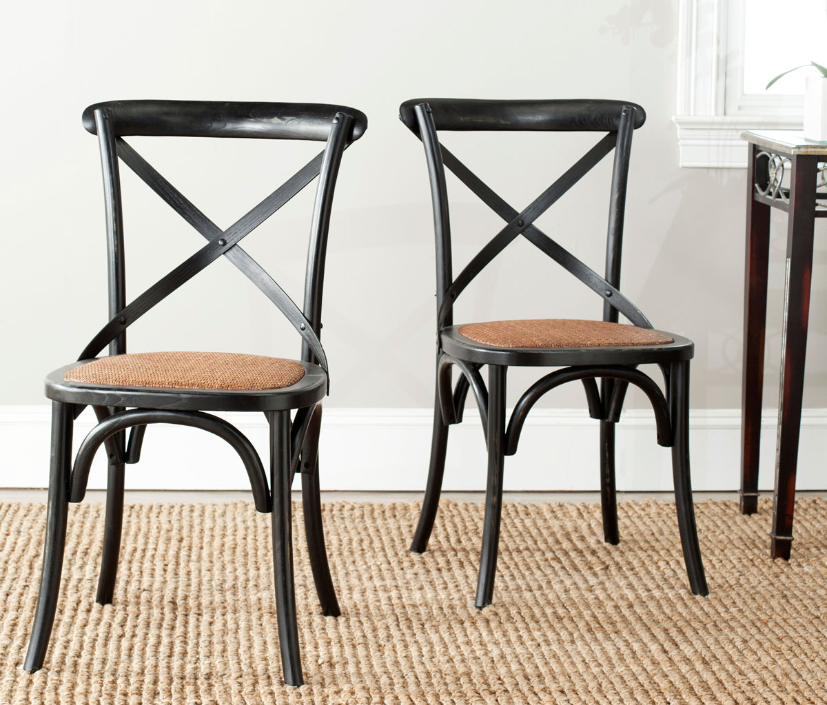 amh9500b set2 dining chairs furniture by safavieh. Black Bedroom Furniture Sets. Home Design Ideas
