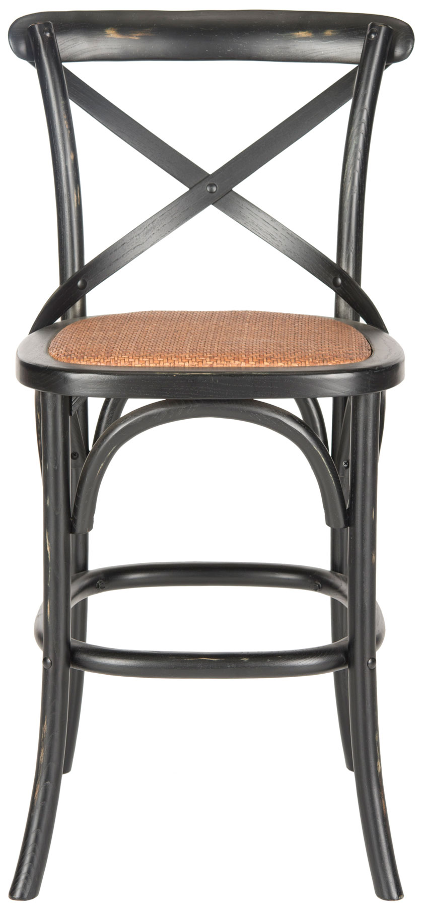 with its willowy frame and iconic crossback inspired by michael classic bistro chair the franklin counter stool by safavieh is ideal in kitchen