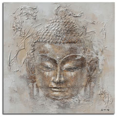 BUDDHA ORANGE AND WHITE PAINTING