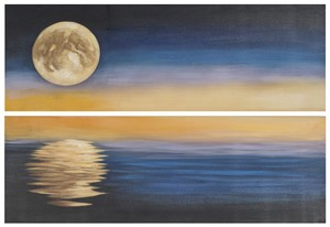 MOONSCAPE DIPTYCH WALL ART