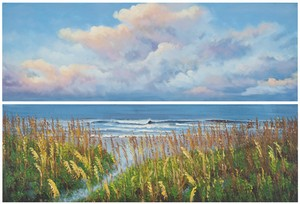 BEACH WALK DIPTYCH WALL ART