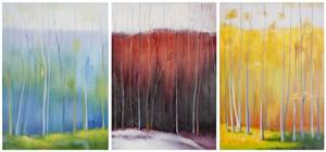 forest rainbow triptych wall art