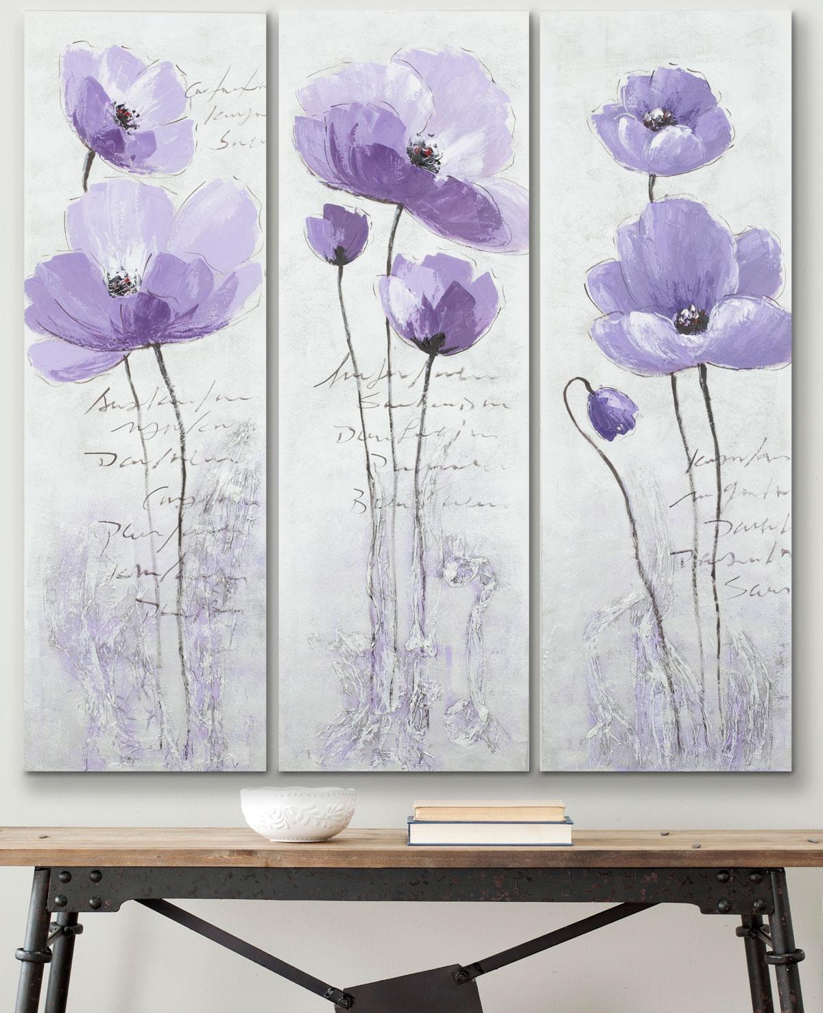 Purple Canvas Rug: ART2011A Art