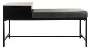 6e088008cffc2 Maruka Bench With Storage Item  BCH6401B Color  Light Oak   Grey
