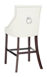 ELENI TUFTED WING BACK BAR STOOL Item: BST6304G SET2 Color: White