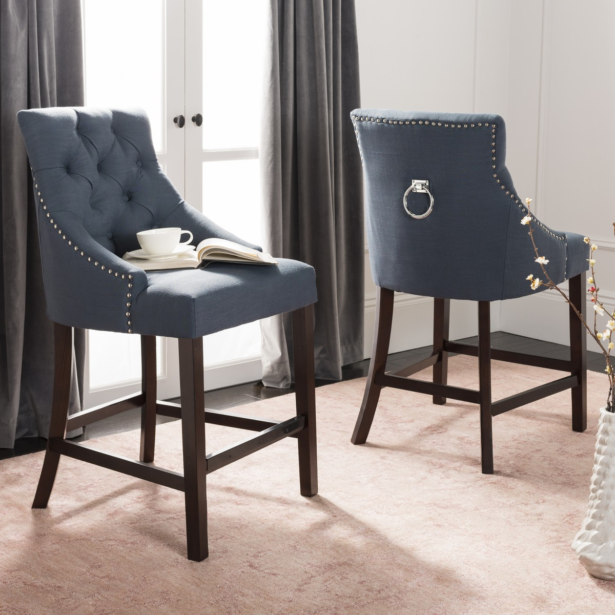 Admirable Bst6305C Set2 Counter Stools Furniture By Safavieh Alphanode Cool Chair Designs And Ideas Alphanodeonline