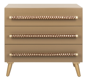 Stylish Accent Cabinets Raquel 3 Drawer Chest Item Chs6602a Color Light Brown