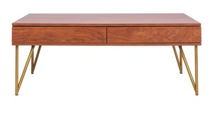d5660db064 Pine Two Drawer Coffee Table Item: COF2238A Color: Natural / Gold
