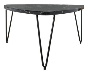 JACKY TRIANGLE COFFEE TABLE Item: COF6202A Color: Black Marble / Black