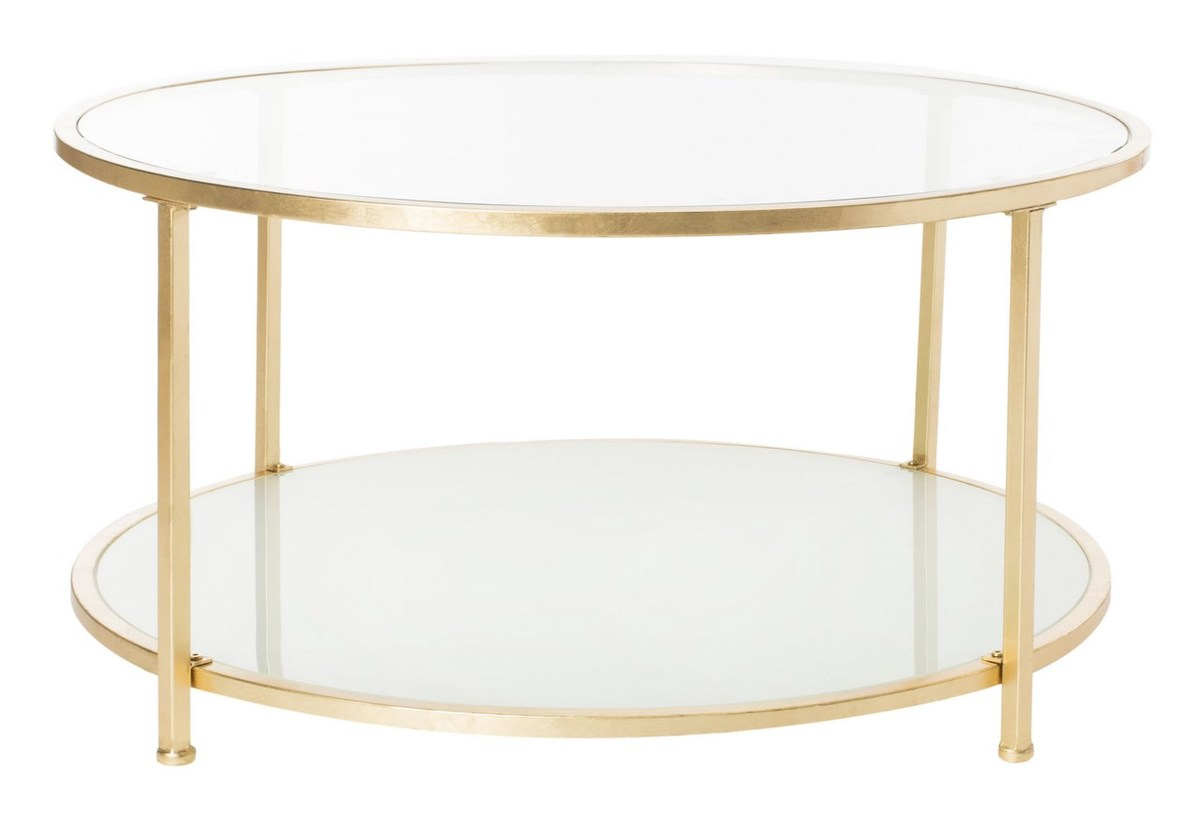 COFA Coffee Tables Furniture By Safavieh - 2 tier round coffee table