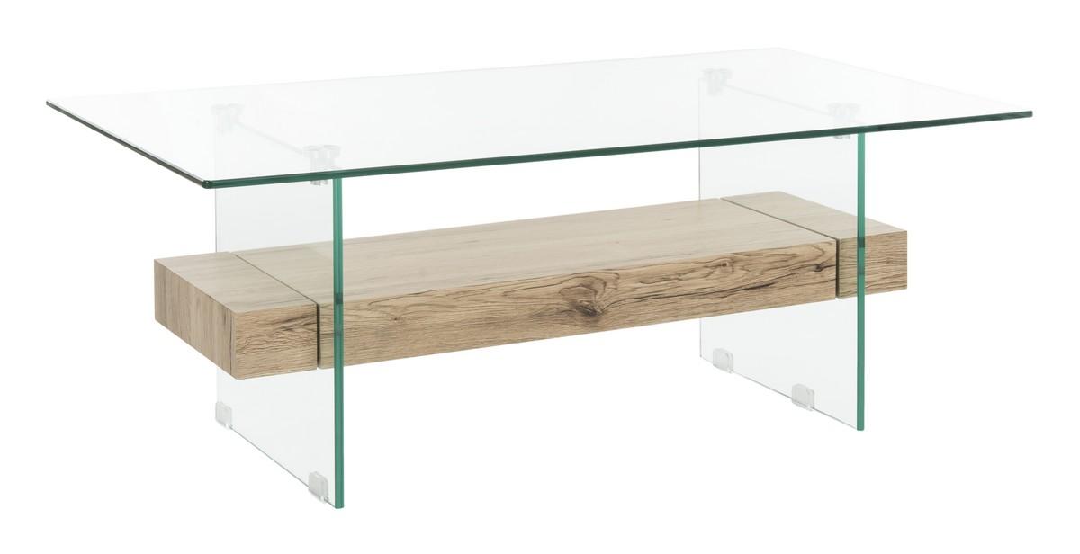 COFA Coffee Tables Furniture By Safavieh - Rectangular glass side table