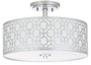 Vera 3 Light 15 5 Inch Dia Silver Flush Mount Item Flu4001b Color Off White