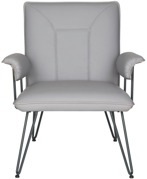 Stupendous Accent Chairs Grey Bi Cast Leather Armchair Safavieh Com Pdpeps Interior Chair Design Pdpepsorg