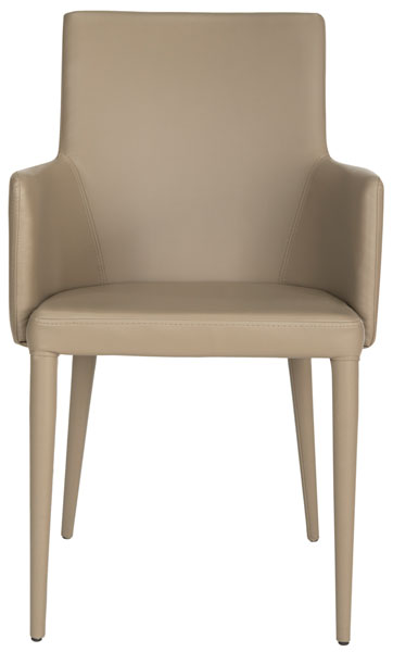 Outstanding Taupe Armchair Pu Leather Accent Chairs Safavieh Com Gmtry Best Dining Table And Chair Ideas Images Gmtryco