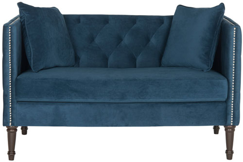 upholstered with settee tufted loveseat back tufting beige