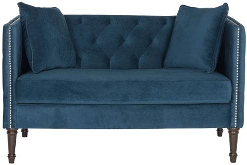 bench settee tufted kinfine loveseat sofa velvet storage