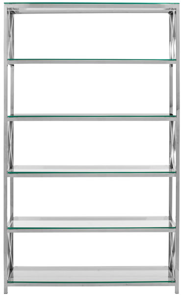 Remarkable Safavieh Couture Etagere Stainless Bookcase Safavieh Home Remodeling Inspirations Basidirectenergyitoicom