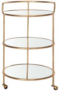 Dulcinea Bar Cart Item Fox2554b Color Gold Mirror Top