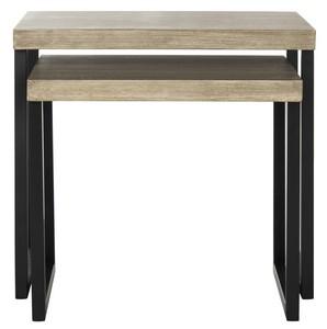 femi end table item fox4266a color light greyblack