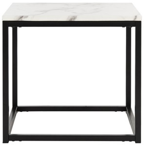 Baize End Table Item Fox6023a Color White Grey