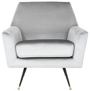 Exceptionnel NYNETTE VELVET RETRO MID CENTURY ACCENT CHAIR Item: FOX6270B Color: Light  Grey