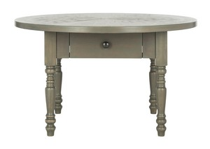 KNOPE CONTEMPORARY ROUND COFFEE TABLE Item: FOX6307A Color: ASH GREY
