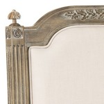 Rustic Wood Beige Linen Headboard Headboards - Furniture ...